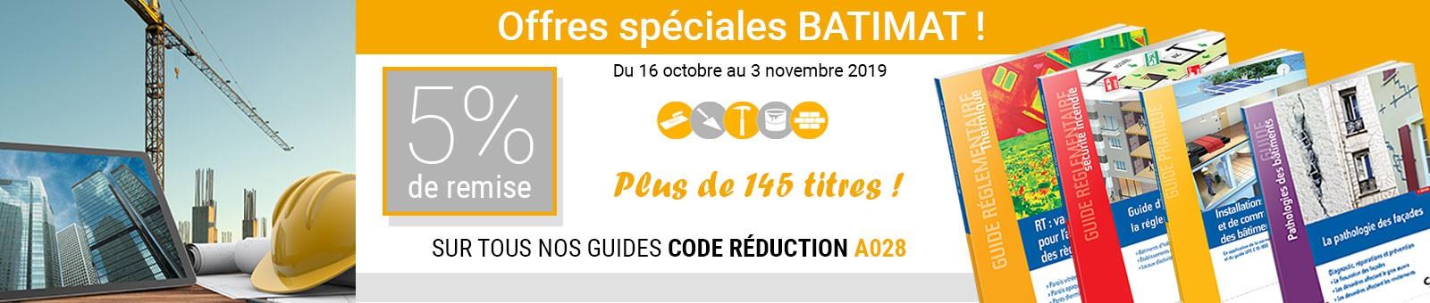 Offres Batimat Guides CSTB
